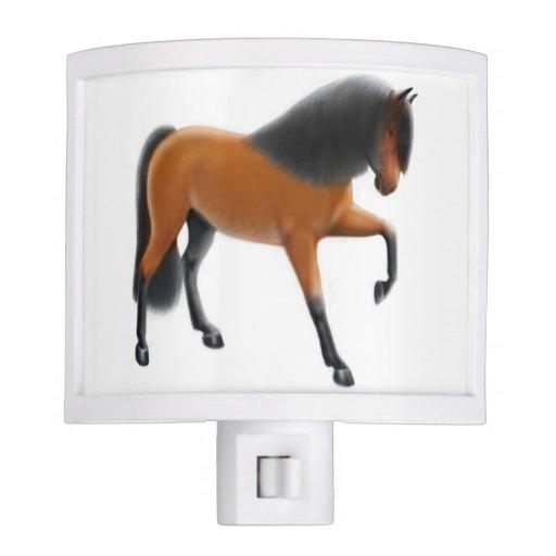 Luz andaluz española de la noche del caballo de la luz de noche