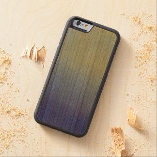 Luz azul de la oscuridad de la mirada de la arena funda de iPhone 6 bumper cerezo