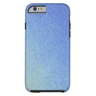 Luz azul de la oscuridad de la mirada de la arena funda de iPhone 6 tough