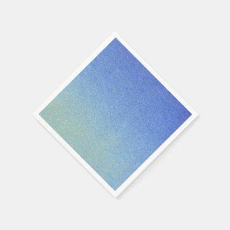 Luz azul de la oscuridad de la mirada de la arena servilleta de papel