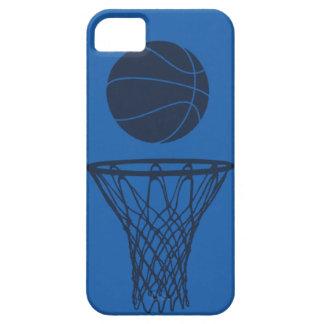 luz azul inconformista de la silueta del baloncest iPhone 5 Case-Mate protector