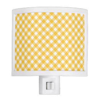 Luz blanca/amarilla diagonal de la noche del lámparas de noche