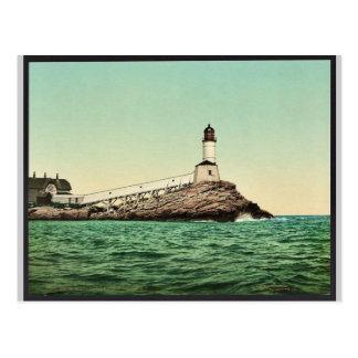 Luz blanca de la isla, islas de los bajíos, N.H. Postal