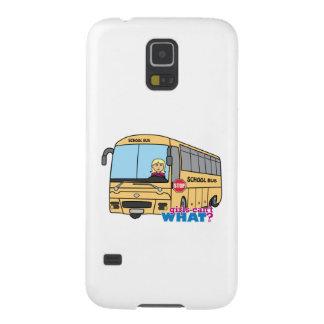 Luz/Blonde del conductor del autobús escolar Funda Para Galaxy S5