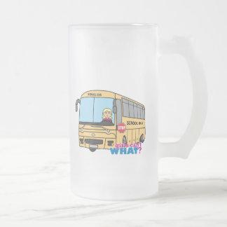 Luz/Blonde del conductor del autobús escolar Taza De Cristal
