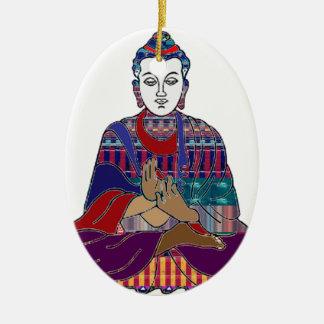 LUZ buena del AMOR NVN633 del Buddhism de BUDA Adorno Ovalado De Cerámica