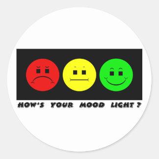 Luz cambiante del humor del trío de la luz de pegatinas redondas