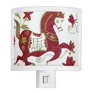 Luz china de la noche de la astrología del caballo luz de noche