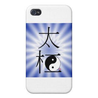 Luz china de Ying Yang de la ji del Tai iPhone 4/4S Funda