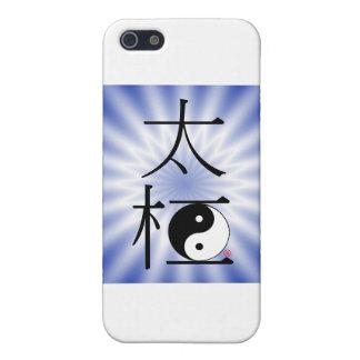 Luz china de Ying Yang de la ji del Tai iPhone 5 Protector