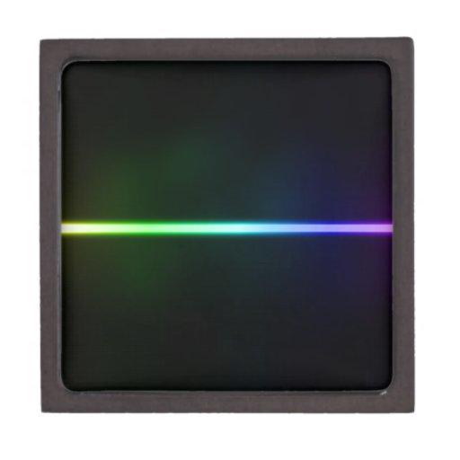 Luz colorida caja de joyas de calidad