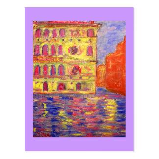 luz colorida de Venecia Postal