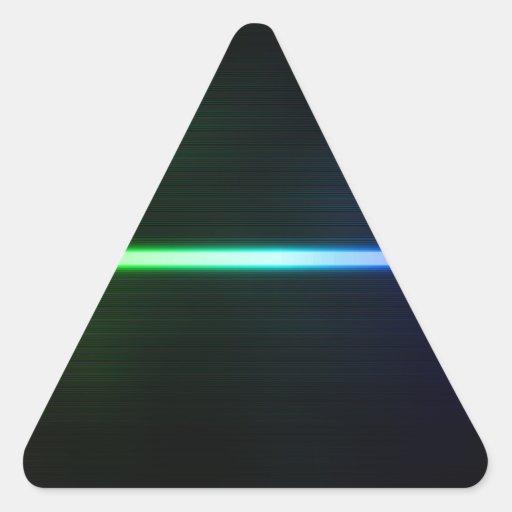 Luz colorida pegatina triangular