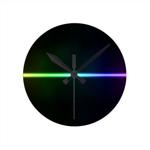 Luz colorida reloj de pared