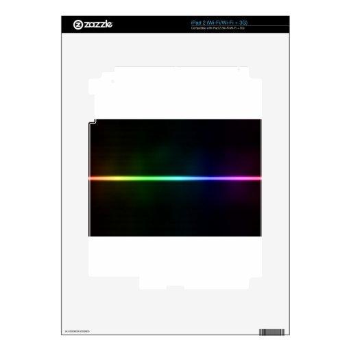 Luz colorida skins para iPad 2