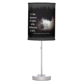 Luz contra la lámpara oscura de la cita