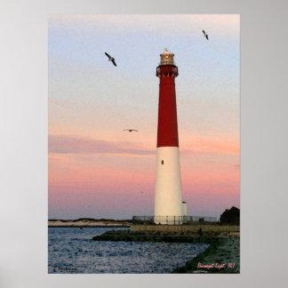 Luz de Barnegat, isla de Long Beach, poster de NJ