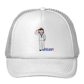 Luz de blancos de vestido de la marina de guerra r gorras de camionero