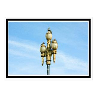 Luz de calle del vintage - San Francisco Tarjetas De Visita Grandes