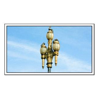 Luz de calle del vintage - San Francisco Tarjetas De Visita