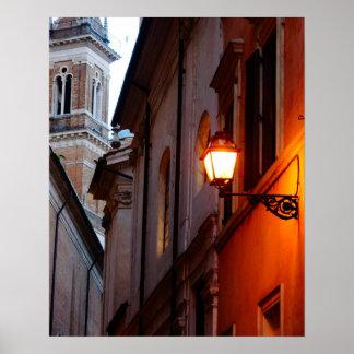 Luz de calle - Italia Póster