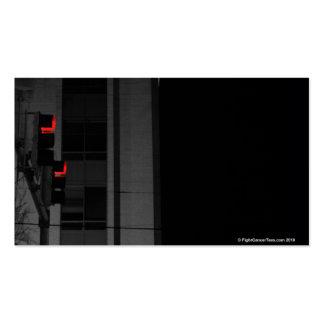 Luz de calle roja tarjeta de visita