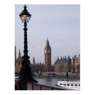 Luz de calle y postal de Big Ben