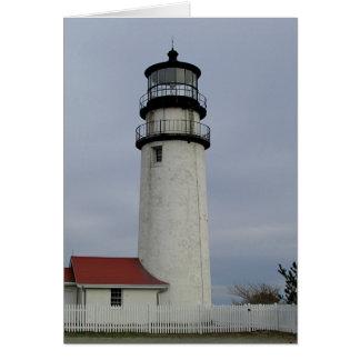 Luz de Cape Cod Tarjeta De Felicitación