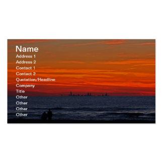Luz de descoloramiento plantilla de tarjeta de visita