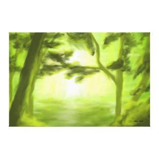 Luz de Forrest Lona Envuelta Para Galerias
