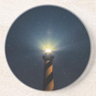 Luz de Hatteras del cabo Posavasos Personalizados