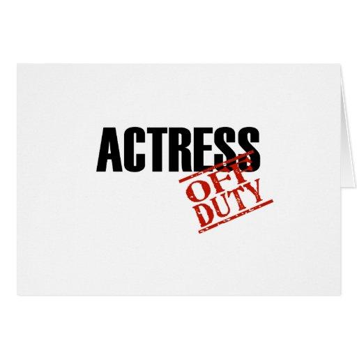 Luz de la actriz tarjeta de felicitación