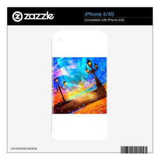 Luz de la alegría y del amorío calcomanías para el iPhone 4S