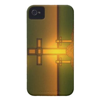 Luz de la aureola de dios sobre la cruz del iPhone Carcasa Para iPhone 4