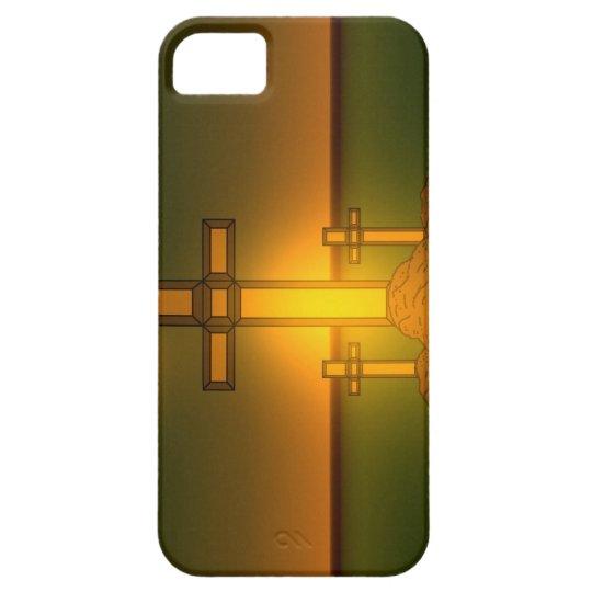 Luz de la aureola de dios sobre la cruz del iPhone Funda Para iPhone SE/5/5s