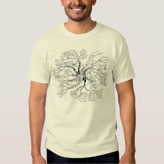 LUZ de la camiseta del árbol de la matemáticas Playeras