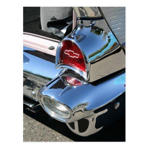 'Luz de la cola de 57 Chevy - postal