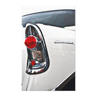 Luz de la cola del Bel Air 56 de Chevy Impresion En Lona