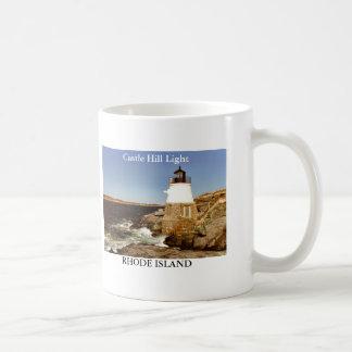 Luz de la colina del castillo, taza de Rhode