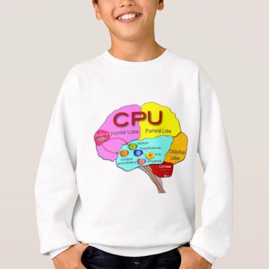 Luz de la CPU del cerebro Sudadera