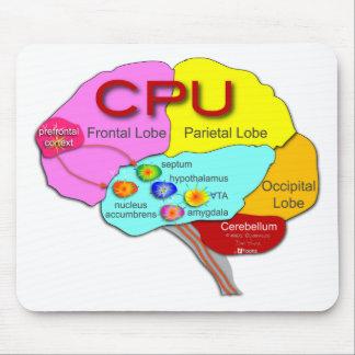 Luz de la CPU del cerebro Tapetes De Ratones