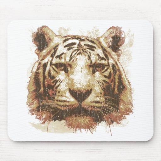 Luz de la impresión del tigre tapetes de raton