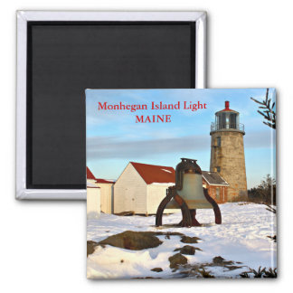 Luz de la isla de Monhegan, imán de Maine