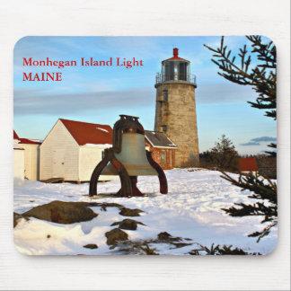 Luz de la isla de Monhegan, Maine Mousepad Tapete De Ratón