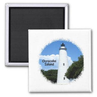 Luz de la isla de Ocracoke Imán Cuadrado
