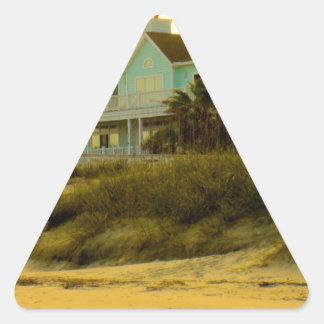 Luz de la mañana en la isla de palmas pegatina de trianguladas