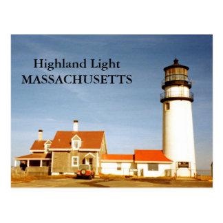 Luz de la montaña, postal de Massachusetts