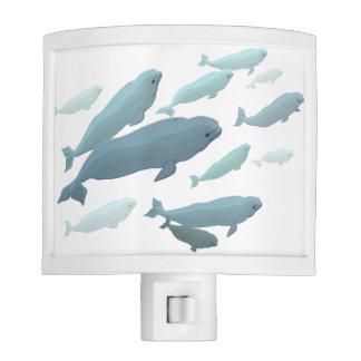 Luz de la noche de la ballena de la beluga del Nig Lámpara De Noche