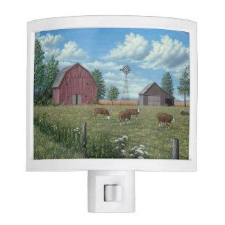 Luz de la noche de la granja lámpara de noche