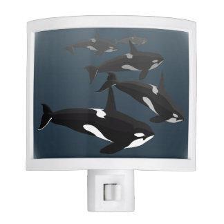 Luz de la noche de la orca del Nightlight de la ba Lámpara De Noche